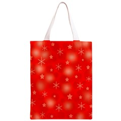 Red Xmas desing Classic Light Tote Bag