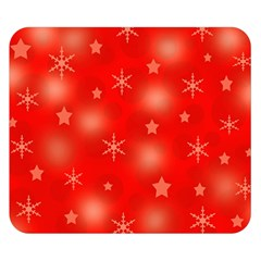 Red Xmas desing Double Sided Flano Blanket (Small)