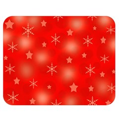 Red Xmas desing Double Sided Flano Blanket (Medium)