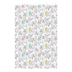 Doodle Cats  Shower Curtain 48  X 72  (small)