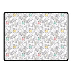Doodle Cats  Double Sided Fleece Blanket (Small)