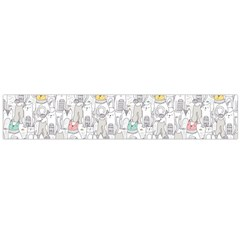 Doodle Cats  Flano Scarf (Large)