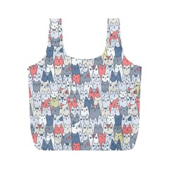 Cats Family  Full Print Recycle Bags (M)