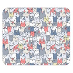 Cats Family  Double Sided Flano Blanket (Small)