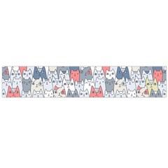Cats Family  Flano Scarf (Large)