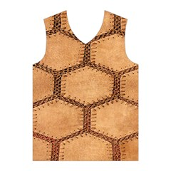 Suede Fabric Hexagon Tan Soft Men s Basketball Tank Top