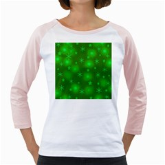 Green Xmas design Girly Raglans