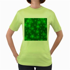 Green Xmas design Women s Green T-Shirt