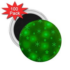 Green Xmas design 2.25  Magnets (100 pack)