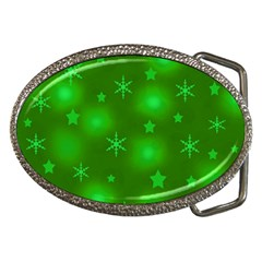 Green Xmas design Belt Buckles