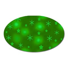 Green Xmas design Oval Magnet