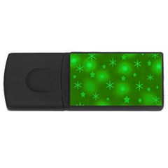Green Xmas design USB Flash Drive Rectangular (1 GB)