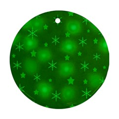 Green Xmas design Round Ornament (Two Sides)