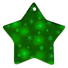 Green Xmas design Star Ornament (Two Sides)