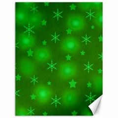 Green Xmas design Canvas 12  x 16