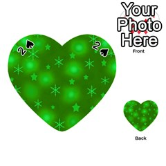 Green Xmas design Playing Cards 54 (Heart)
