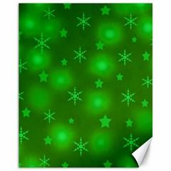 Green Xmas design Canvas 11  x 14