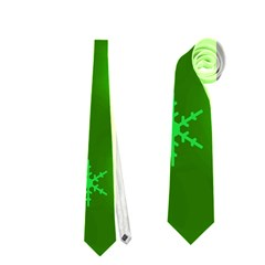 Green Xmas design Neckties (Two Side)