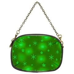 Green Xmas design Chain Purses (Two Sides)