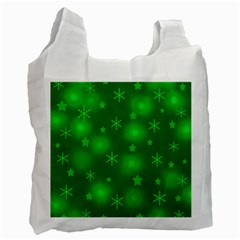 Green Xmas design Recycle Bag (One Side)
