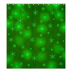 Green Xmas design Shower Curtain 66  x 72  (Large)