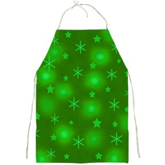 Green Xmas design Full Print Aprons
