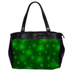 Green Xmas design Office Handbags