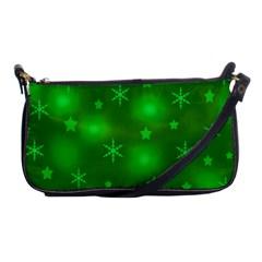 Green Xmas design Shoulder Clutch Bags