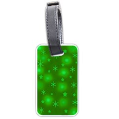 Green Xmas design Luggage Tags (One Side)