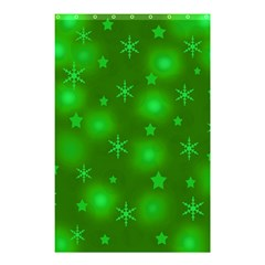 Green Xmas design Shower Curtain 48  x 72  (Small)