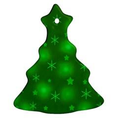 Green Xmas design Christmas Tree Ornament (2 Sides)