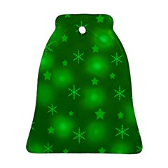 Green Xmas design Bell Ornament (2 Sides)