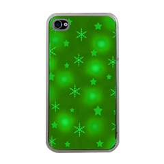 Green Xmas design Apple iPhone 4 Case (Clear)