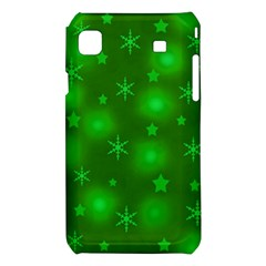 Green Xmas design Samsung Galaxy S i9008 Hardshell Case