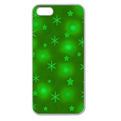 Green Xmas design Apple Seamless iPhone 5 Case (Clear)