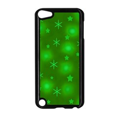 Green Xmas design Apple iPod Touch 5 Case (Black)