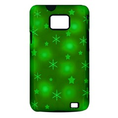Green Xmas design Samsung Galaxy S II i9100 Hardshell Case (PC+Silicone)