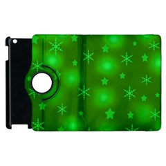Green Xmas design Apple iPad 3/4 Flip 360 Case