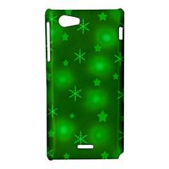 Green Xmas design Sony Xperia J