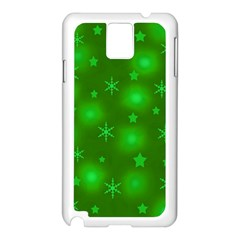 Green Xmas design Samsung Galaxy Note 3 N9005 Case (White)
