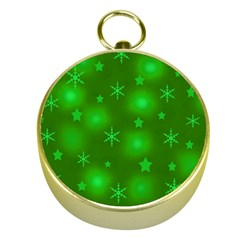 Green Xmas design Gold Compasses