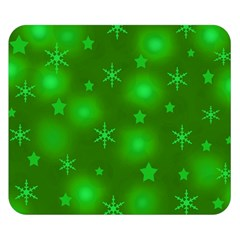Green Xmas design Double Sided Flano Blanket (Small)