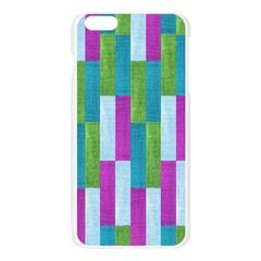 Textile Texture Purple Baby Blue Apple Seamless iPhone 6 Plus/6S Plus Case (Transparent)