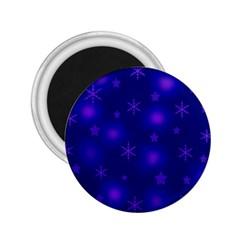 Blue Xmas design 2.25  Magnets