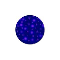 Blue Xmas design Golf Ball Marker (10 pack)