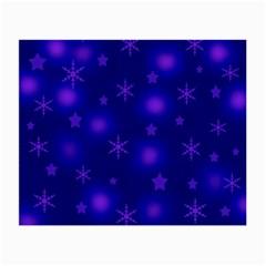 Blue Xmas design Small Glasses Cloth