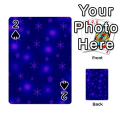 Blue Xmas design Playing Cards 54 Designs