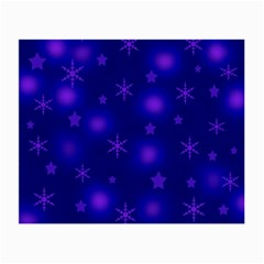 Blue Xmas design Small Glasses Cloth (2-Side)