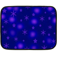 Blue Xmas design Fleece Blanket (Mini)
