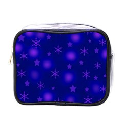 Blue Xmas design Mini Toiletries Bags